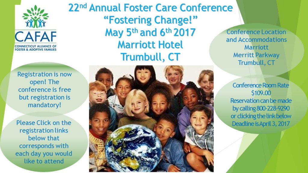22nd Annual Foster Care Conference - REGISTRATION CLOSED @ Trumbull Marriott