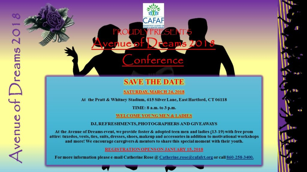 Save the Date: CAFAF Avenue of Dreams @ Pratt & Whitney Stadium | East Hartford | Connecticut | United States