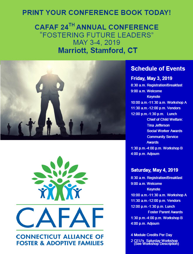 "CAFAF 24th Annual Conference ""Fostering Future Leaders"" @ Stamford Marriott Hotel & Spa 