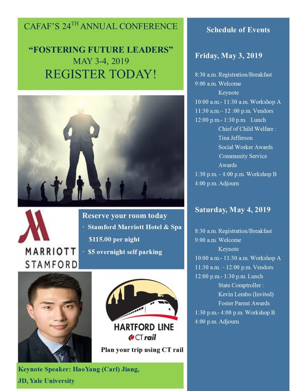 """CAFAF 24th Annual Conference """"Fostering Future Leaders"""" @ Stamford Marriott Hotel & Spa 